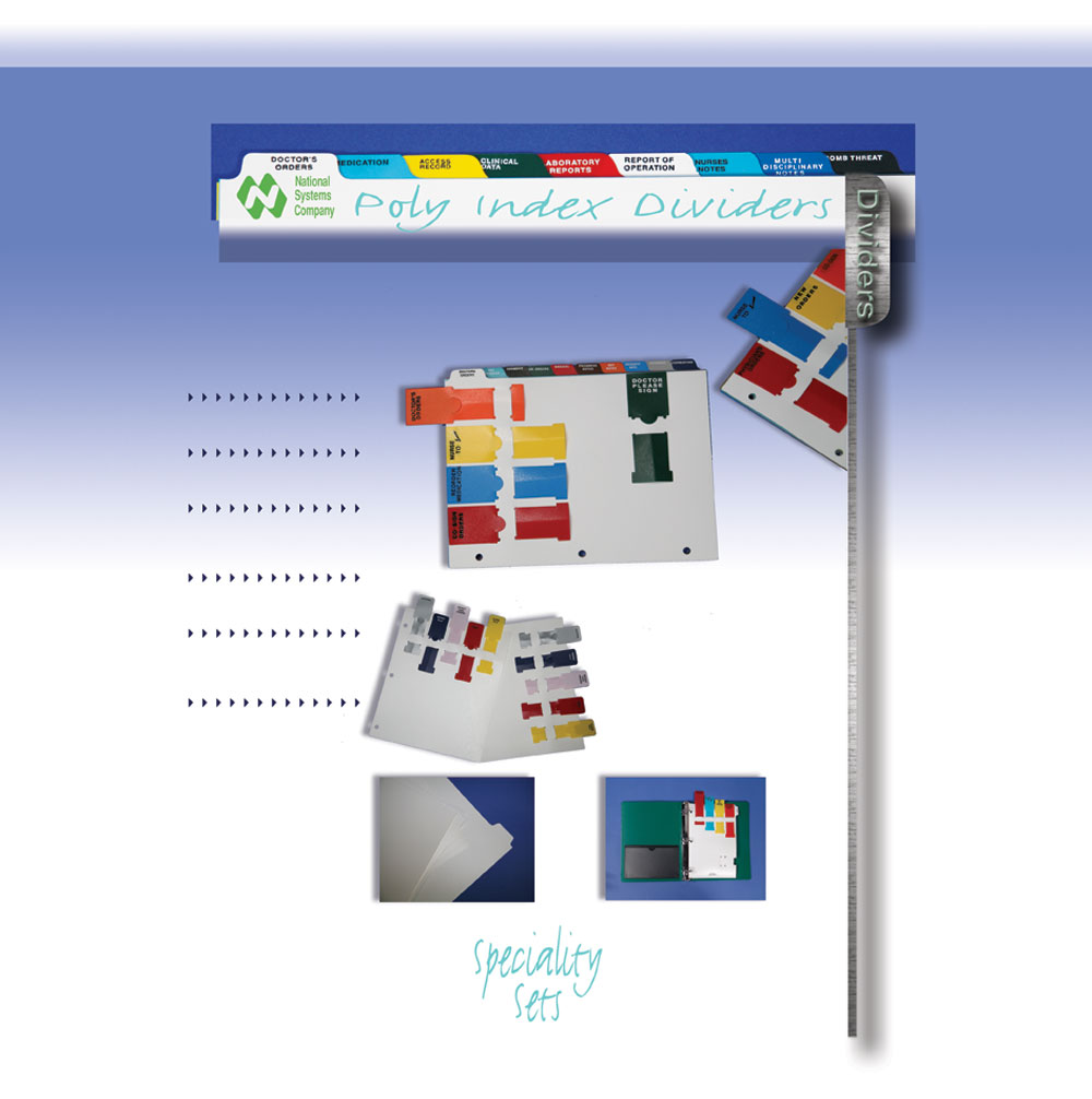Hospital 9 tab poly index index divider sets